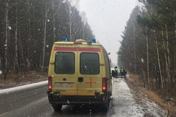 Авария произошла на трассе в Еткульском районе