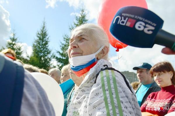 Одна из патриотичных бабушек, которые признались, что Цыбульский им симпатичен