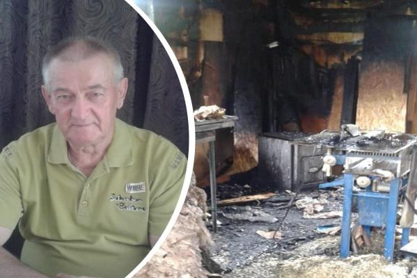 Огонь полностью уничтожил мастерскую