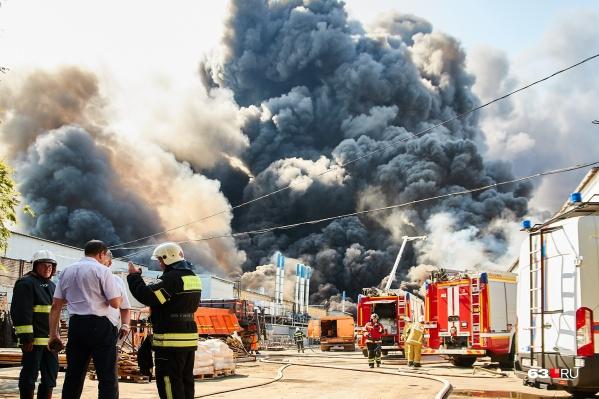 В первый день пожара — 13 июля— картина была такой