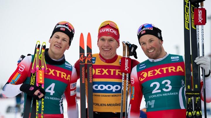 Лыжник из Архангельской областиАлександр Большунов победил в масс-старте«Ски Тур»