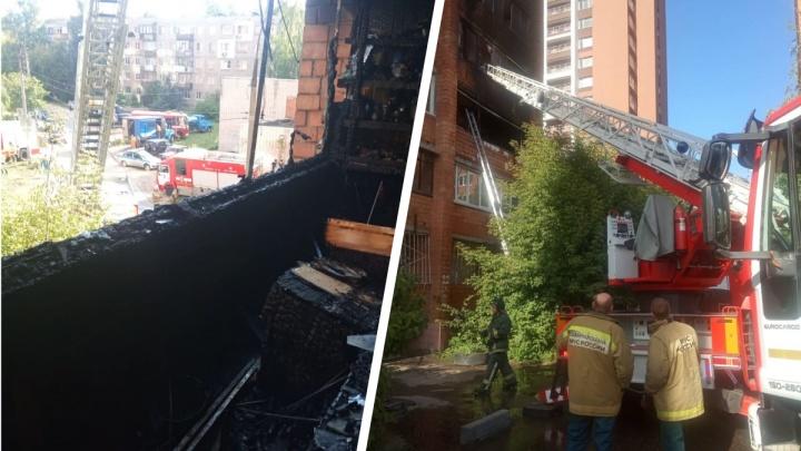 На улице Надежды Сусловой случился пожар: погиб один человек