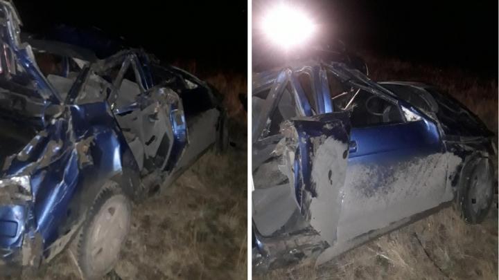 Авто отлетело и перевернулось: в Самарской области в аварии пострадали 3 человека