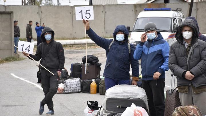 Еще 730 застрявших в Ростовской области узбеков-мигрантов вывезли в Ташкент