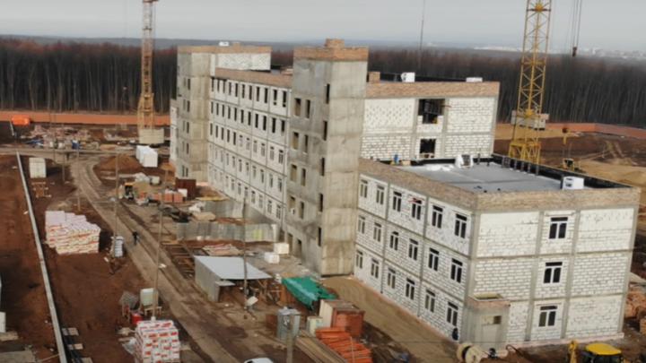 У «Самара Арены» возвели главный корпус нового комплекса ГИБДД
