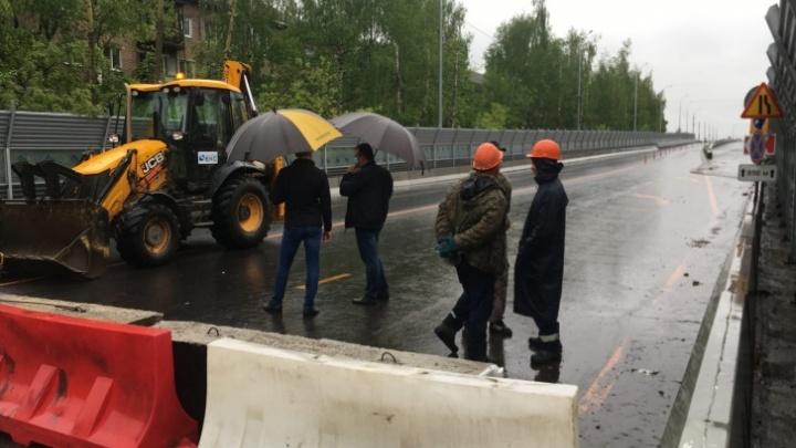 Работы затянулись: в Ярославле передвинули сроки открытия движения по Добрынинскому путепроводу