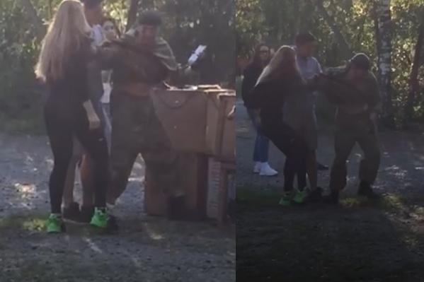 Конфликт произошёл в парке Гагарина, где Сергей Панасенко регулярно выгуливает своих животных