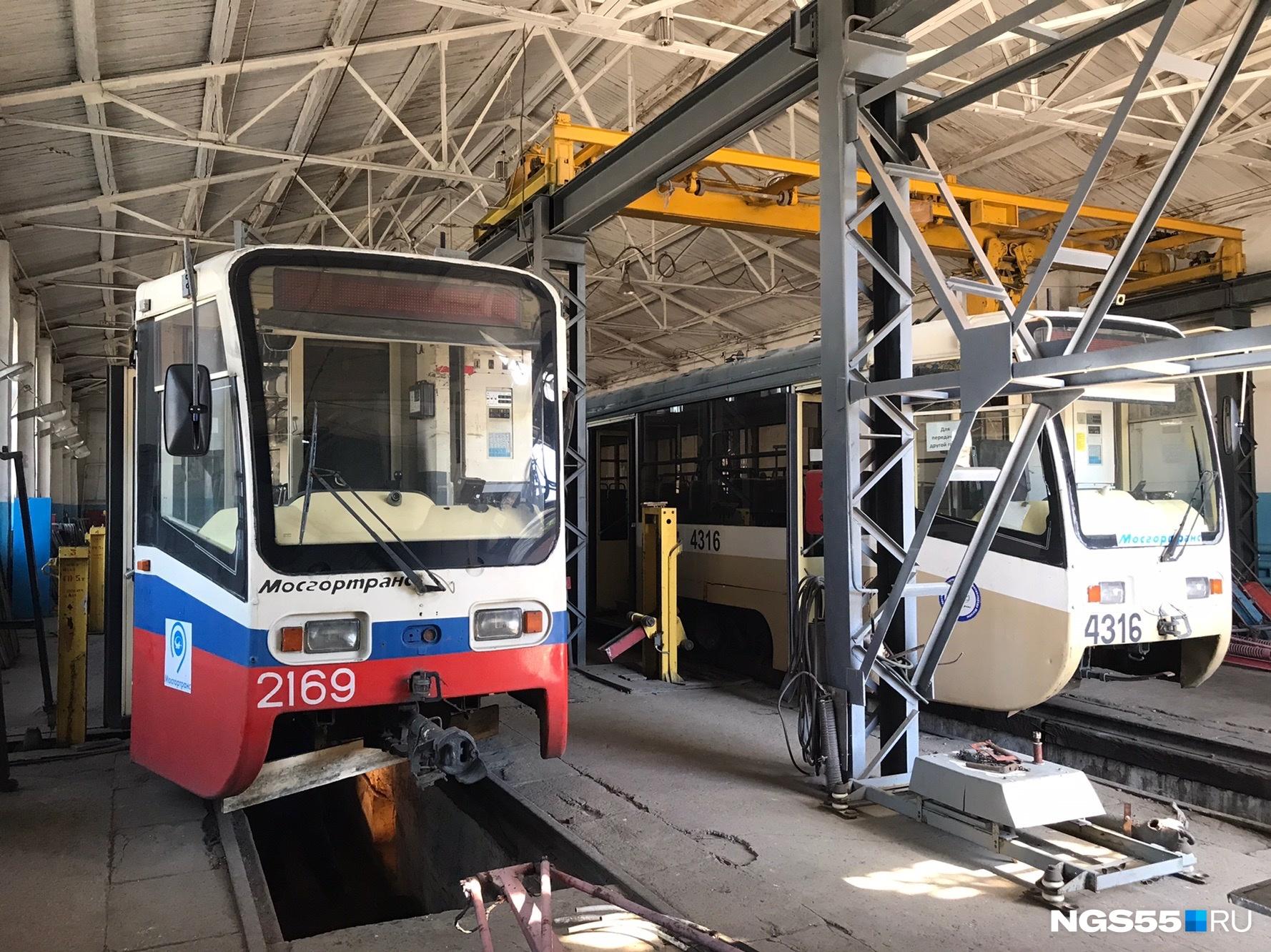 Трамваи из Москвы готовят к выходу на омские пути