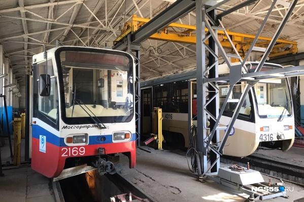Трамваи ждут техобслуживания и покраски