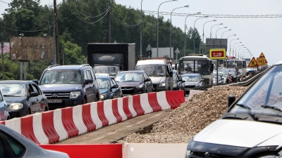 В Ольгино снова изменится схема движения из-за стройки