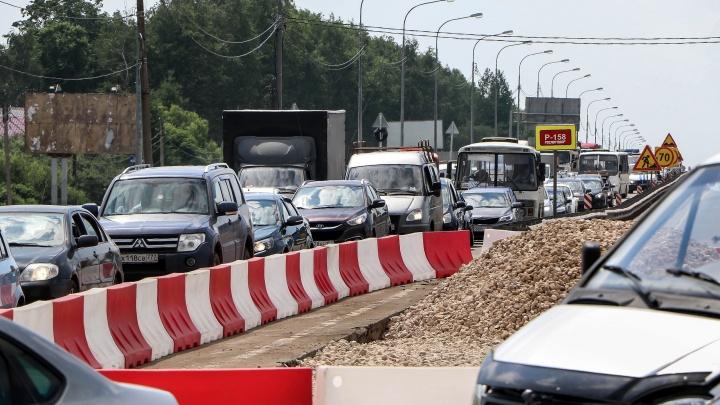 Развязку в Ольгино строят с опережением графика на месяц