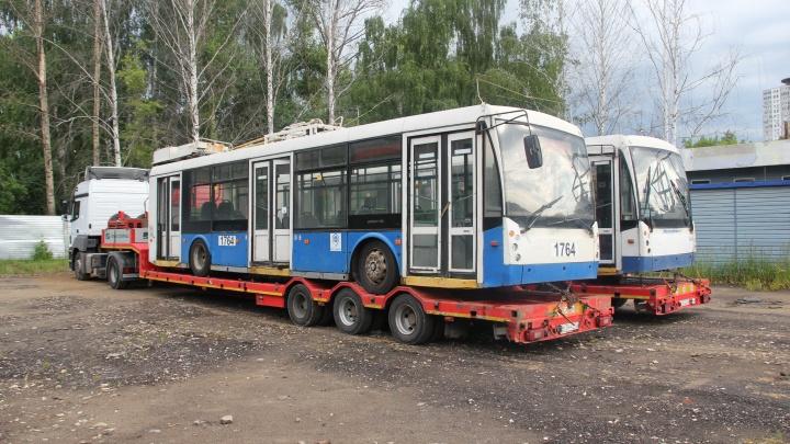 В Нижний Новгород прибыли первые подержанные троллейбусы из Москвы