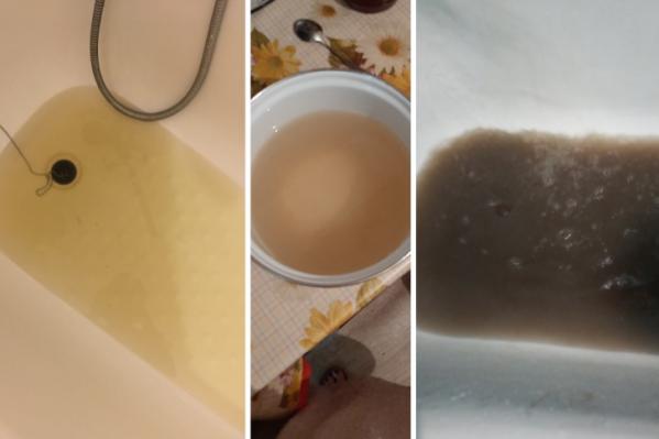 В некоторых районах города продолжает течь грязная горячая вода