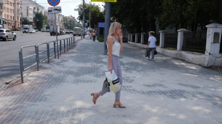 В Челябинске откажутся от укладки на тротуарах привычной серой плитки