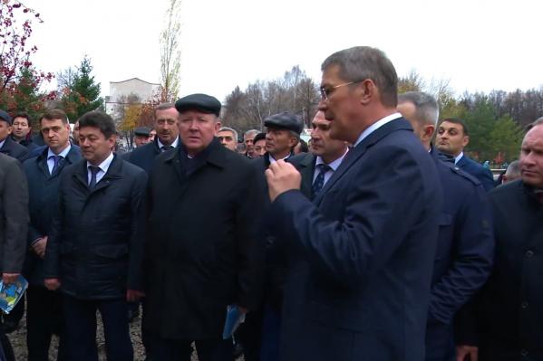 Сам Хабиров лично посещал парк во время его реконструкции