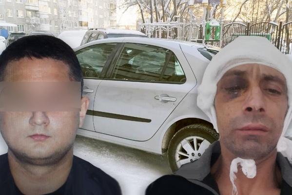 Пострадавший таксист Али Алиев (справа) опознал одного из нападавших по фотографии