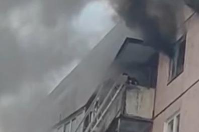 В Ярославле при пожаре в многоэтажке погиб мужчина. Видео