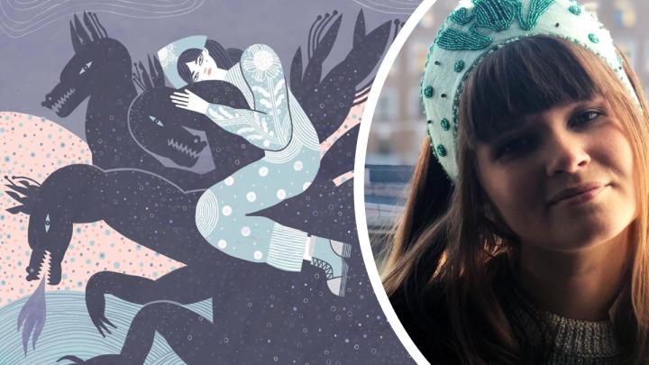 Печальные и серьёзные: как выглядят модные северные царевны от художницы из Архангельска