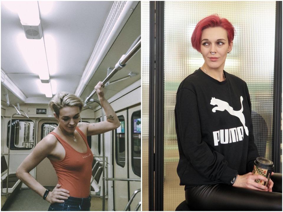 Ольга чаще носит объемные вещи, поэтому отсутствие бюстгальтера ее не смущает