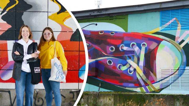 Граффити на гаражах и музее: что ещё оценили в Архангельске исследователи стрит-арта из Петербурга