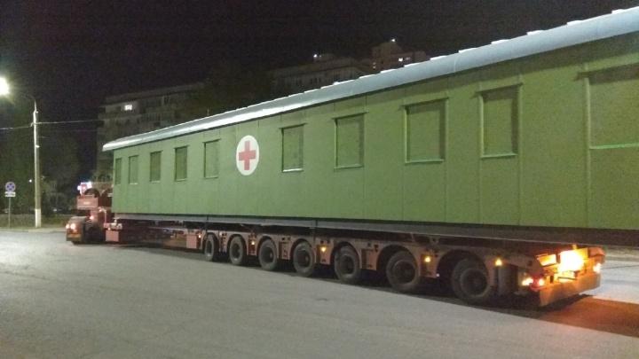В охваченный пандемией коронавируса Волгоград доставили вагон-госпиталь времен Сталинградской битвы