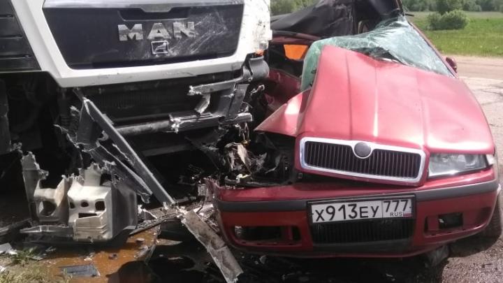 Влетел в фуру: в лобовом столкновении под Ярославлем погибли два человека