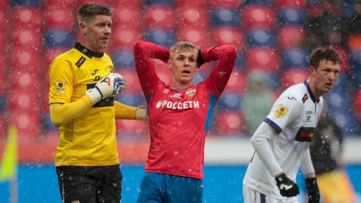 «Уфа» во второй раз в сезоне сыграла с ЦСКА вничью