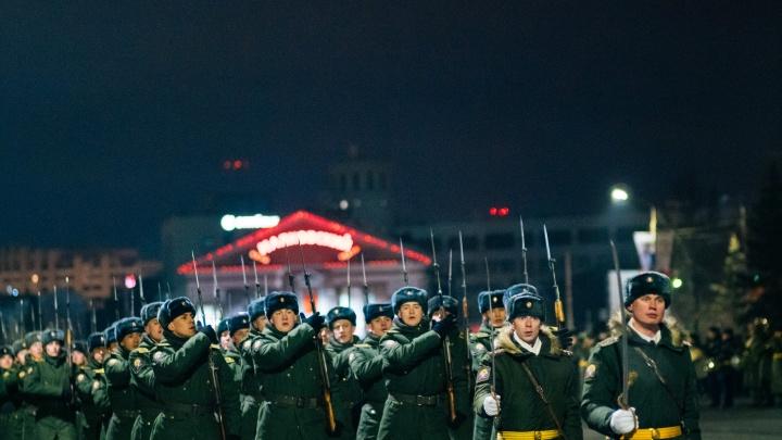 Репетиция парада в День защитника Отечества: как это было