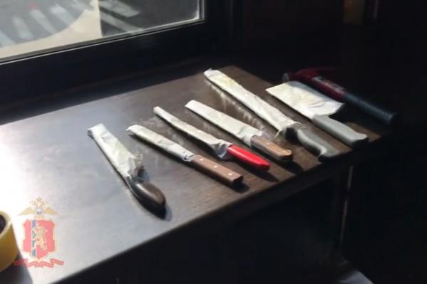 В квартирах изъяли ножи и пневматические пистолеты