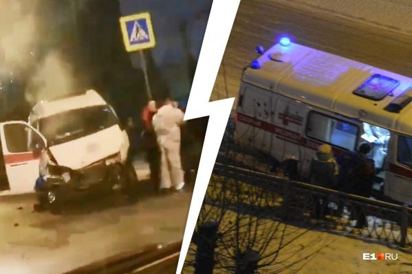 На борту скорой был пациент, которого сразу же после аварии забрала другая машина скорой помощи и увезла в больницу