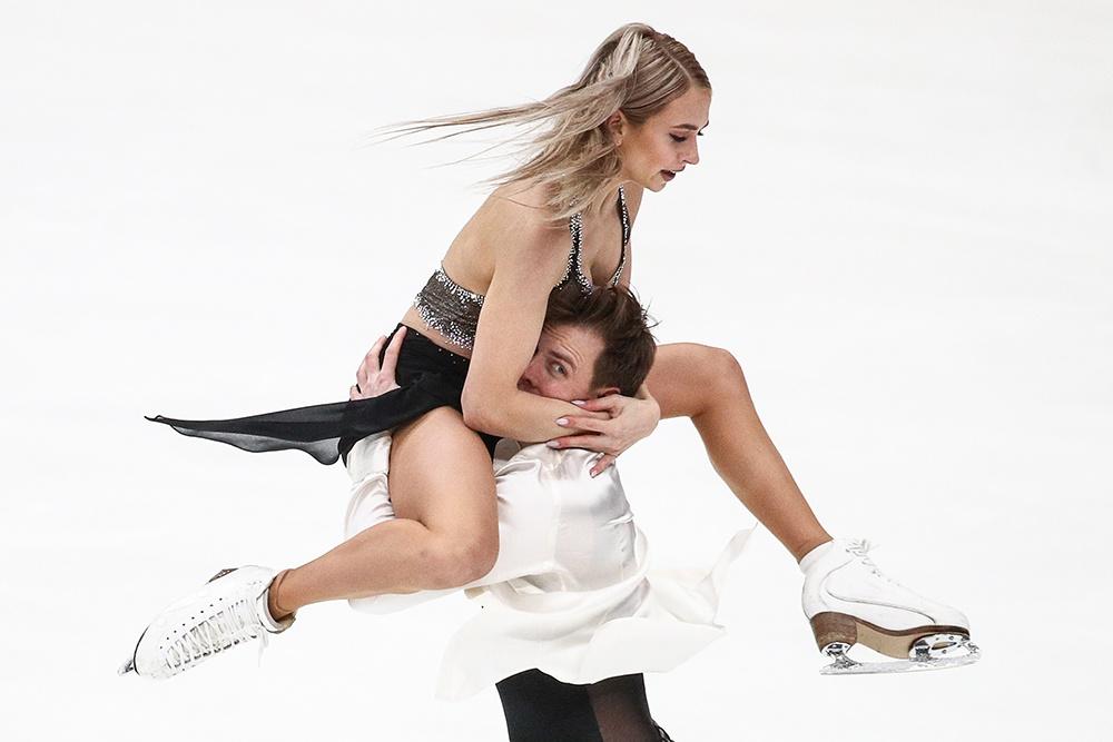 Виктория Синицина и Никита Кацалапов во время выступления в произвольной программе