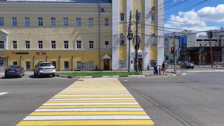 В Ярославле нарисовали «зебру» в газон: объяснение властей
