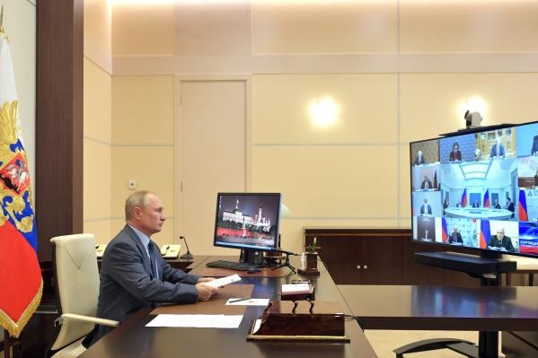 В последнее время президент проводит видеоконференции с завидной регулярностью