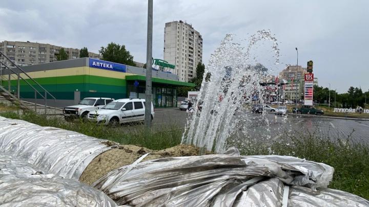 Это были гидроиспытания: в «Концессиях» объяснили многометровый столб воды в центре Волгограда