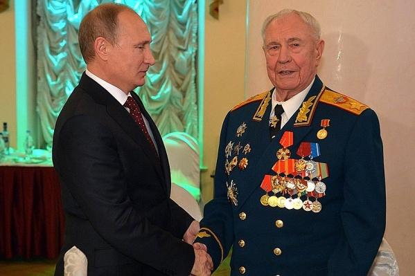 Снимок сделан на праздновании 90-летия Дмитрия Язова в 2014 году