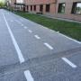 В Тюмени исчезла велодорожка. Ее убрали, чтобы не ремонтировать небезопасный гранитный тротуар