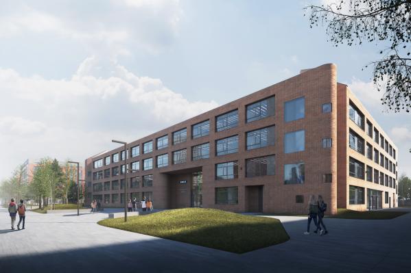 Новый проект школы разработали в компании«ГенИнжПроект» при участии архитекторов из Нидерландов: все четыре фасада будут разными
