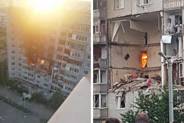 Взрыв прогремел в квартире на 4 этаже