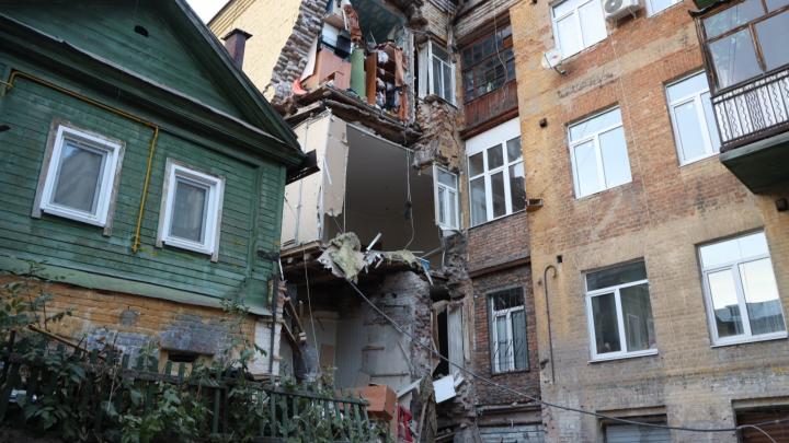 Устроили ЧС! Названа причина обрушения дома на улице Галактионовской