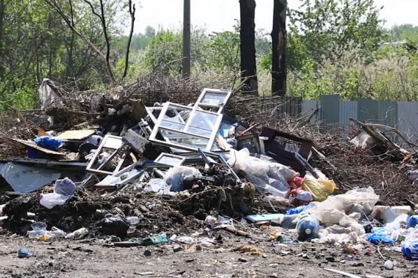 В Зауралье с наступлением лета и началом сезона ремонтов мусорные площадки покрылись крупногабаритным мусором, который «Чистый город» вывозить не может