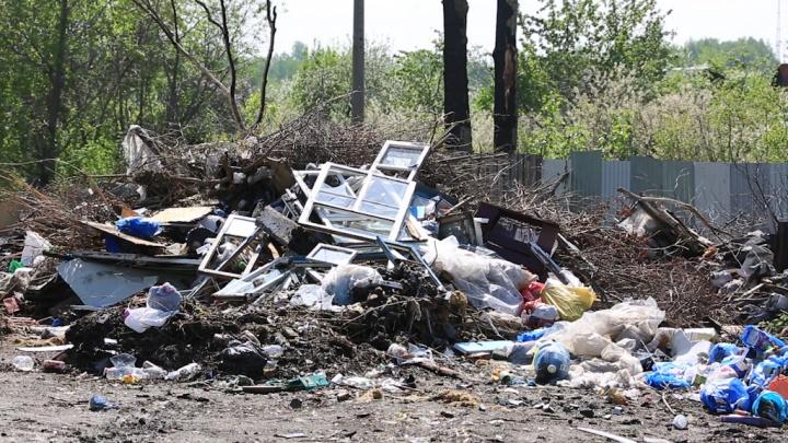Зауральцы заваливают мусорные площадки крупными строительными отходами
