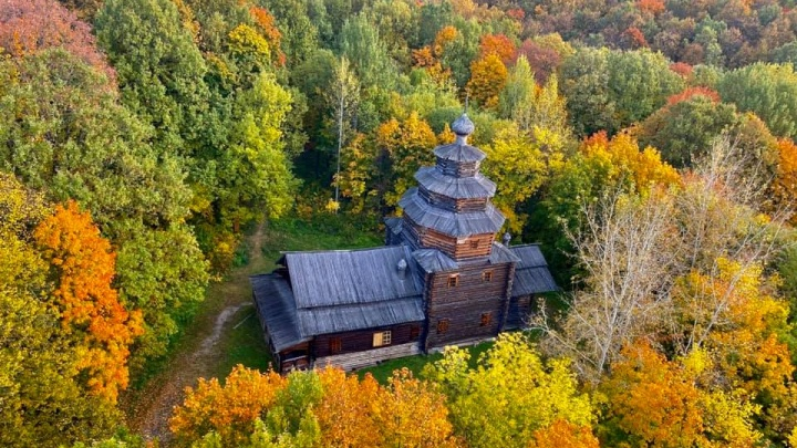 «Осенью особенно хорош»: смотрим кадры Щелоковского хутора с воздушного шара