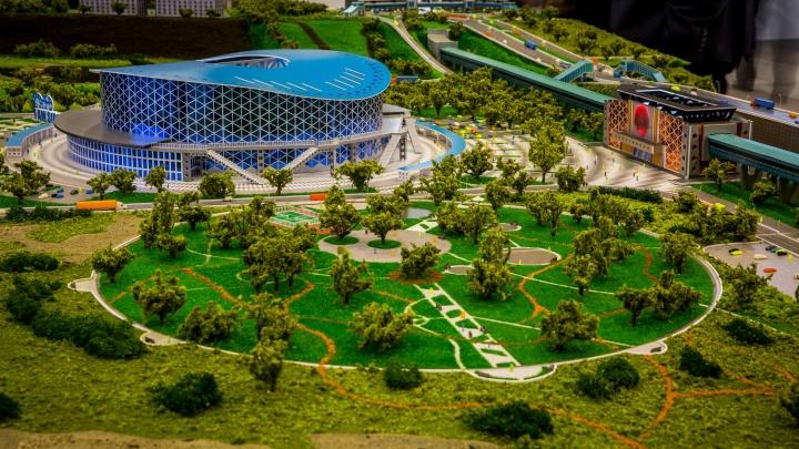 Новая ледовая арена в Новосибирске готова уже на 30%