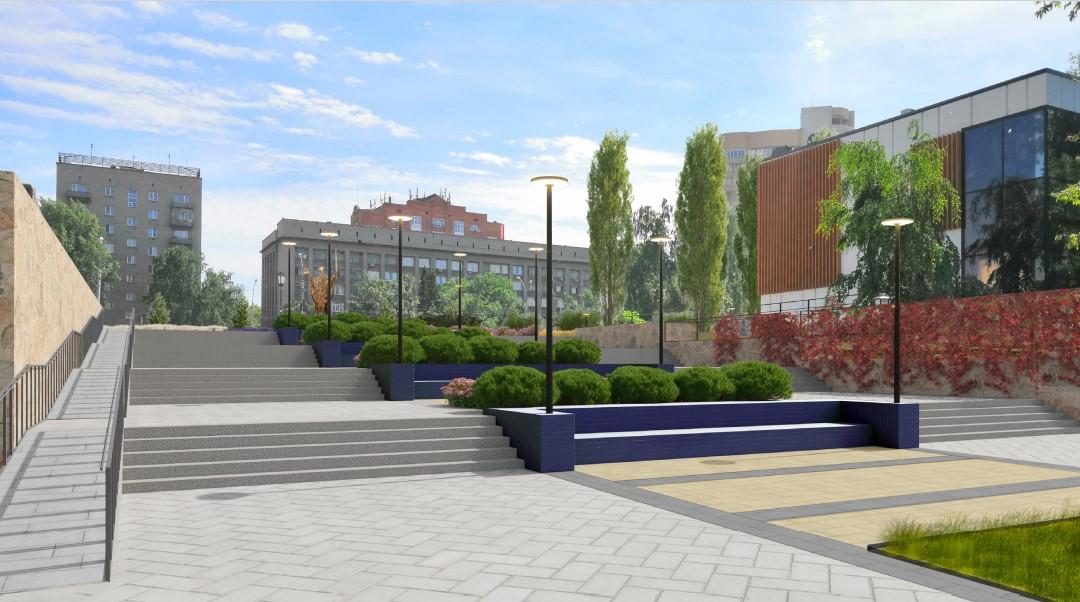 Стену рядом со ступеньками предлагают украсить лианами