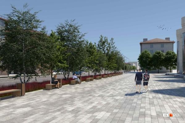 Показываем, какой будет обновленная улица Малышева