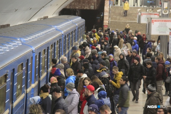 Так выглядела станция метро «Площадь Маркса» на прошлой неделе, еще до ослабления режима самоизоляции в Новосибирске