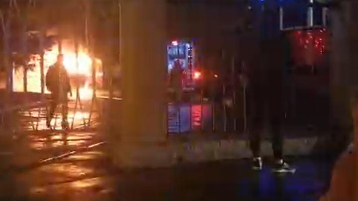 Ночью в депо на улице Мичурина сгорели два трамвая