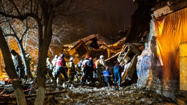 Обрушение здания в центре Омска: фоторепортаж с места происшествия