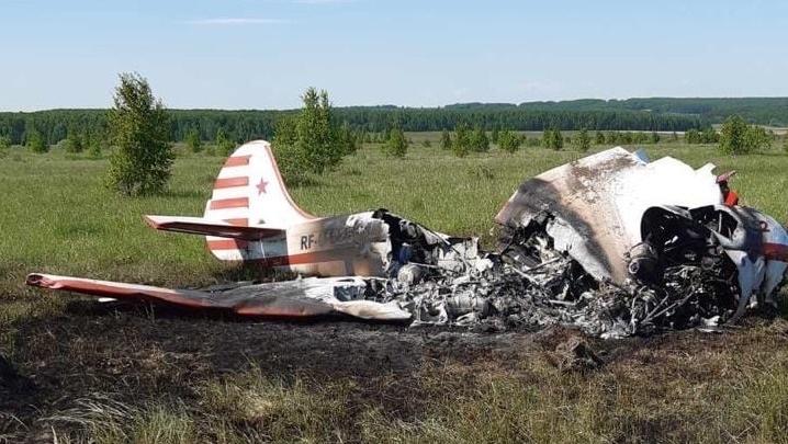 В Богородском районе во время учебного полёта разбился самолёт Як-52