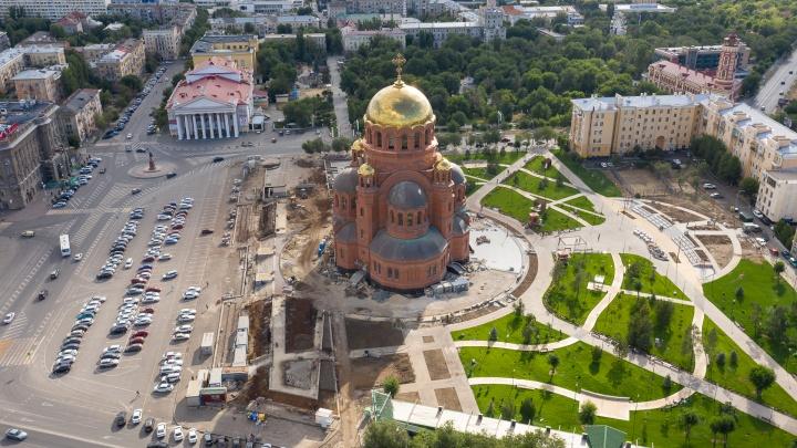 В Волгограде сквер у храма Александра Невского назвали Александровским садом